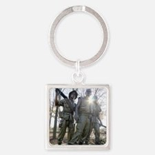 Vietnam war memorial three service Square Keychain
