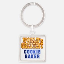 World's Greatest Cookie Baker Square Keychain