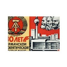 Russian Stamp Rectangle Magnet
