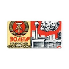 Russian Stamp Aluminum License Plate