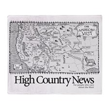 Sylvains Map of the West Throw Blanket