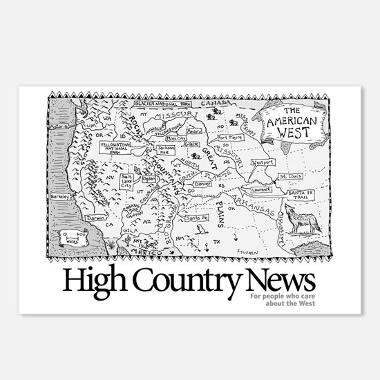 Sylvains Map of the West Postcards (Package of 8)