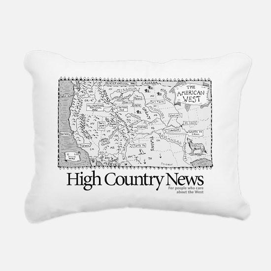 Sylvains Map of the West Rectangular Canvas Pillow