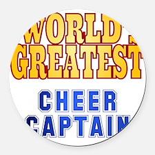 World's Greatest Cheer Captain Round Car Magnet