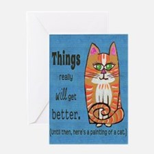 Heres A Cat Greeting Card