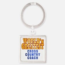 World's Greatest Cross Country Coa Square Keychain
