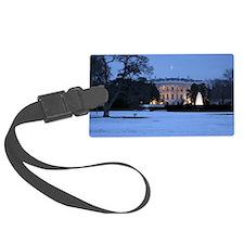 white house snow Luggage Tag