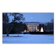 white house snow Decal