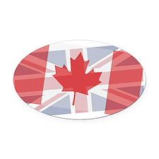 Canada/Uk blended Oval Car Magnet