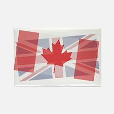 Canada/Uk blended Rectangle Magnet