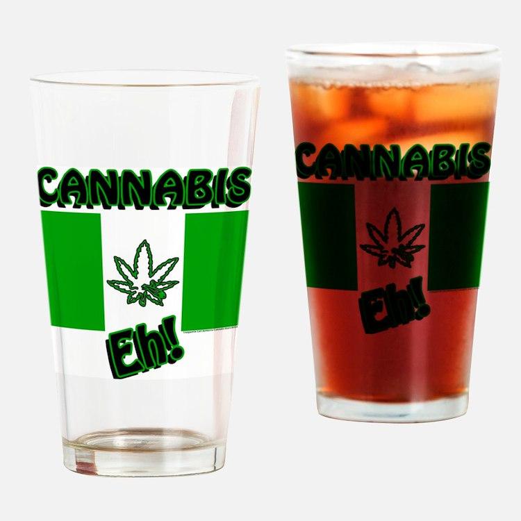 Cannabis, Eh! Drinking Glass