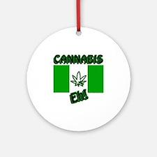 Cannabis, Eh! Round Ornament