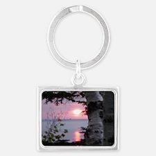 Sunset Lake Superior Landscape Keychain