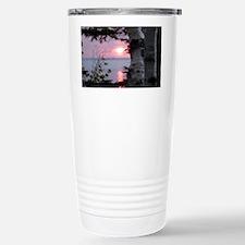 Sunset Lake Superior Stainless Steel Travel Mug