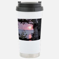Sunset Lake Superior Travel Mug