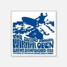 "Makaha Surfing 1968 Square Sticker 3"" x 3"""