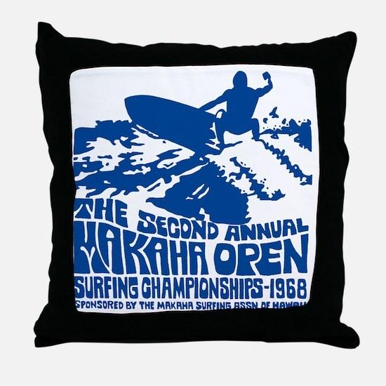 Makaha Surfing 1968 Throw Pillow