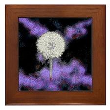 Dandelion Artwork Framed Tile