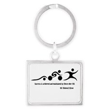 Success is achieved and maintai Landscape Keychain