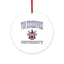 VON KUCZKOWSKI University Ornament (Round)