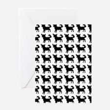 Chihuahua Silhouette Flip Flops In B Greeting Card