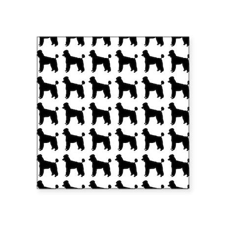 """Poodle Silhouette Flip Flop Square Sticker 3"""" x 3"""""""