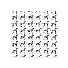"""Dalmatian Silhouette Flip F Square Sticker 3"""" x 3"""""""