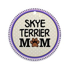 Skye Terrier Dog Mom Ornament (Round)