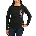 Slovensko Women's Long Sleeve Dark T-Shirt