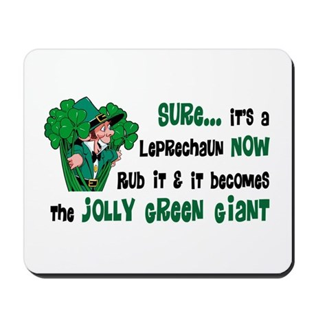 Leprechaun vs. Green Giant Mousepad