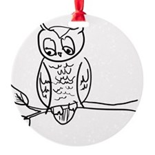 Little Hoot - Owl on Branch Ornament