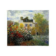 The Garden of Monet at Argenteuil Throw Blanket