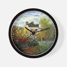 The Garden of Monet at Argenteuil Wall Clock