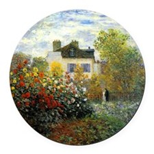 The Garden of Monet at Argenteuil Round Car Magnet