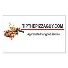 "Tips appreciated for good service 5"" x 3"" sticker"