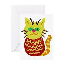 Microcosm Kitty Cat Greeting Card
