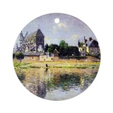 onets garden in Vetheuil Round Ornament