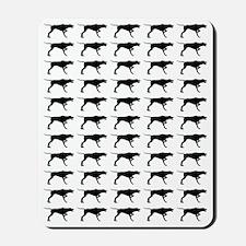 Pointer Silhouette Flip Flops In Black Mousepad