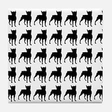 Boston Terrier Silhouette Flip Flops  Tile Coaster
