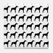 Doberman Pinscher Silhouette Flip Flo Tile Coaster