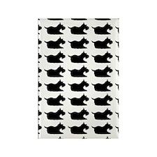 Schnauzer Silhouette Flip Flops I Rectangle Magnet