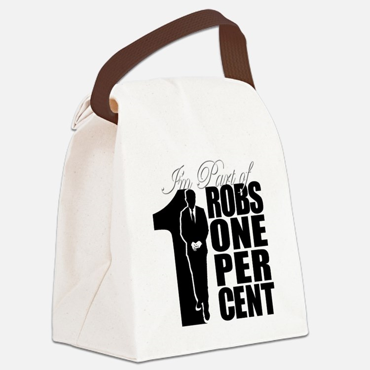 RobsOnePercent Canvas Lunch Bag