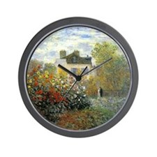 The Garden of Monet at Argenteuil Wall Clock