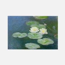 Water Lilies Rectangle Magnet