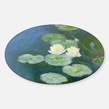 Water Lilies Sticker (Oval)