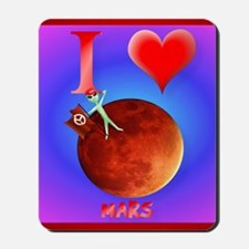Pillow I Love Mars Mousepad