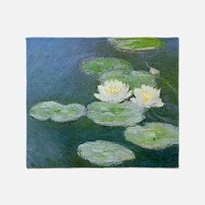 Monet Water Lilies Throw Blanket