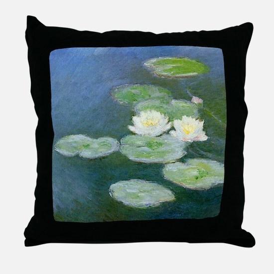 Monet Water Lilies Throw Pillow