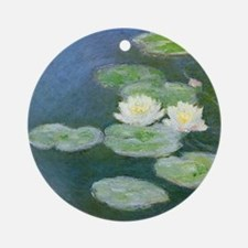 Monet Water Lilies Round Ornament