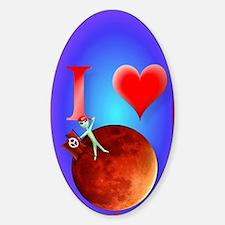 444_iphone_I Love Mars Decal